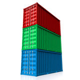 Cargo containers Stock Image