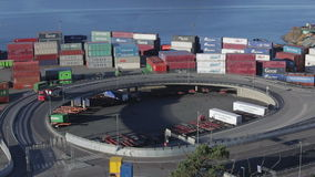 Cargo Containers stock video