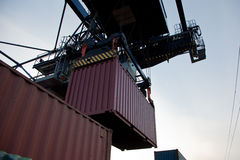 Container loading Royalty Free Stock Photography