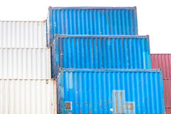 Cargo Containers Stack Royalty Free Stock Photo