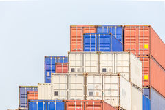 Cargo Containers Stack Stock Image