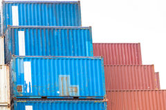 Cargo Containers Stack Stock Photos