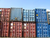 Cargo containers. Royalty Free Stock Photography