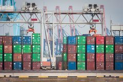 Cargo containers Royalty Free Stock Images