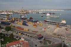 Cargo costero del puerto Foto de archivo
