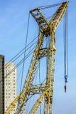 Cargo crane building construction process Royalty Free Stock Photo