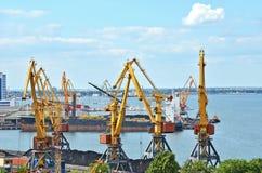 Cargo crane, ship and coal Stock Image