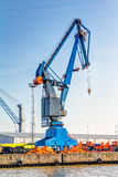Cargo crane in the harbour Royalty Free Stock Photos