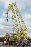 Cargo crane in the port Stock Images