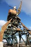 Cargo crane in the port Stock Photo