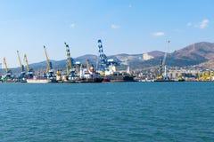 Cargo crane in port Stock Image