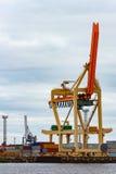 Cargo crane. In the port of Riga, Europe Stock Image