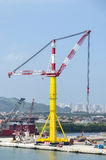 The cargo crane Stock Images
