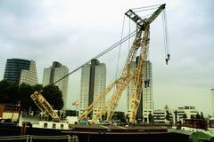 Cargo crane in Rotterdam Pier Stock Photo