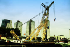 Cargo crane in Rotterdam Pier. Large cargo crane in Rotterdam Pier stock photos