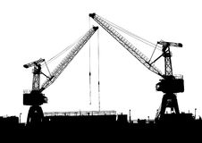Cargo crane in seaport Stock Photography