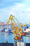 Cargo crane and ship Royalty Free Stock Images