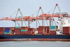 Cargo crane and ship Stock Image