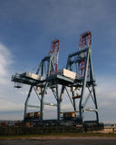 Cargo crane at shipyard Royalty Free Stock Images