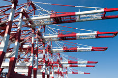 Cargo Cranes. In Industrial Port Royalty Free Stock Photo