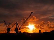 Cargo Cranes Stock Photo