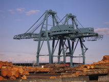 Cargo Cranes Royalty Free Stock Photo
