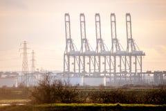 Cargo cranes Stock Photos