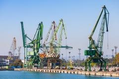 Cargo cranes, port of Varna, Bulgaria Royalty Free Stock Photo