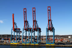Cargo cranes Royalty Free Stock Photos