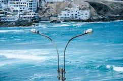 Cargo da lâmpada na praia fotografia de stock