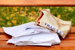 Cargo danificado Foto de Stock Royalty Free