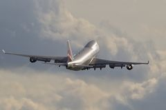 CARGO de Boeing 747 Foto de archivo libre de regalías