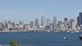 Cargo de cargaison d'horizon de Seattle banque de vidéos