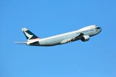 Cargo de Cathay Pacific Fotografía de archivo