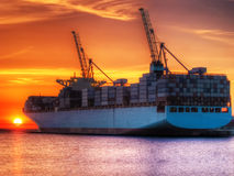 Cargo de conteneur Image stock