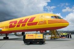 Cargo de DHL Imagen de archivo libre de regalías
