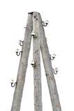 Cargo de madeira envelhecido resistido velho do polo da eletricidade Foto de Stock