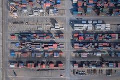 Cargo de récipient, importations-exportations, approvisionnement logistique ch d'affaires Photos stock