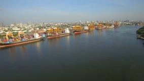 Cargo de récipient, importations-exportations, concept logistique de transport de chaîne d'approvisionnements d'affaires banque de vidéos