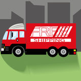 Cargo del camión Imagenes de archivo