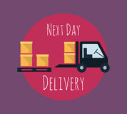 Cargo and delivery, freight truck Royalty Free Stock Photo