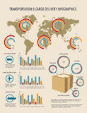Cargo Delivery Infographics Template Stock Photos