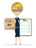 Cargo delivery notification, vector illustration Stock Photo