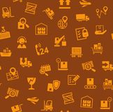 Cargo delivery, seamless pattern, brown, color, vector. royalty free stock photography