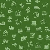 Cargo delivery, seamless pattern, green, color, vector. stock photo