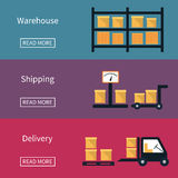 Cargo and delivery, shipping banner Stock Photo