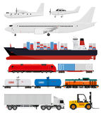 Cargo and delivery transportation Royalty Free Stock Photos