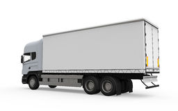 Cargo Delivery Truck Isolated on White Background Stock Photo