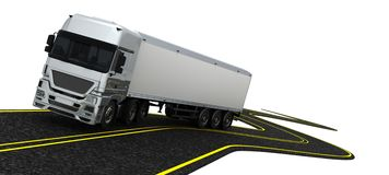 Cargo Delivery Vehicle. 3D Render of a Cargo Delivery Vehicle Royalty Free Stock Photos