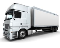 Cargo Delivery Vehicle Royalty Free Stock Photos